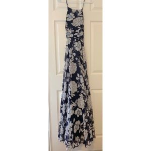 Red Dress Boutique Navy Floral Maxi Dress- NWT